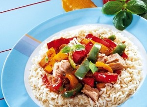 riža s tunjevinom